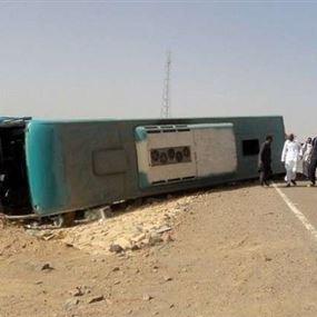 8 قتلى  بتصادم حافلتين في مصر