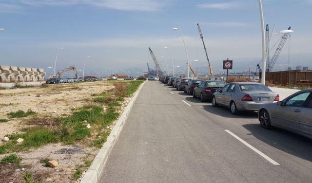 الوقوف ممنوع على مدخل واجهة بيروت البحرية