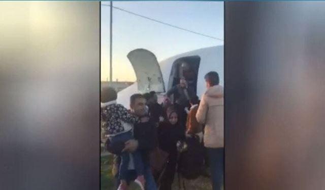 بالفيديو: خروج طائرة إيرانية عن مسارها