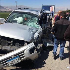 بالصور: وفاة شاب بحادث سير مروع في البقاع الغربي