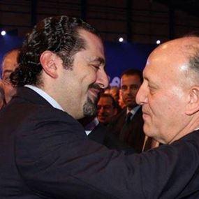 ريفي يدعم الحريري وفي بيت الوسط قريباً