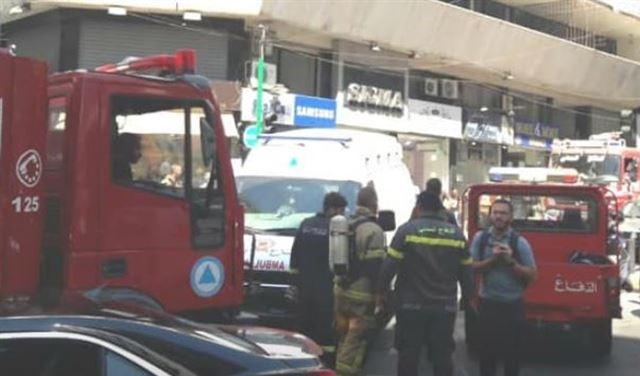 بالصور: حريق داخل معهد في مارالياس... وإصابة اطفال