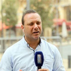 بالصور.. اصابة الاعلامي بسّام ابو زيد في وسط بيروت