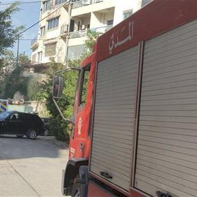 بالصور: حريق داخل فندق في ساحل علما