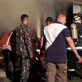 استشهاد عريفين أثناء اخماد حريق مار الياس