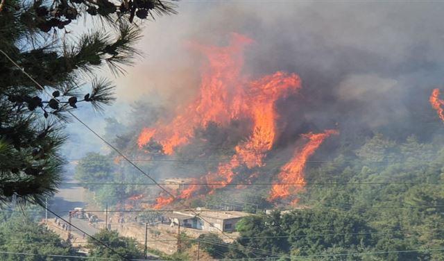 الدفاع المدني: مواصلة إخماد الحريق شمالا و65 مهمة خلال 24 ساعة