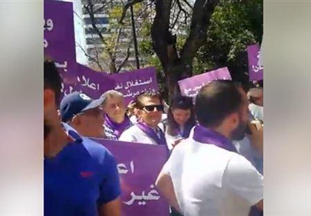 حزب سبعة يغلق مداخل وزارة الداخلية