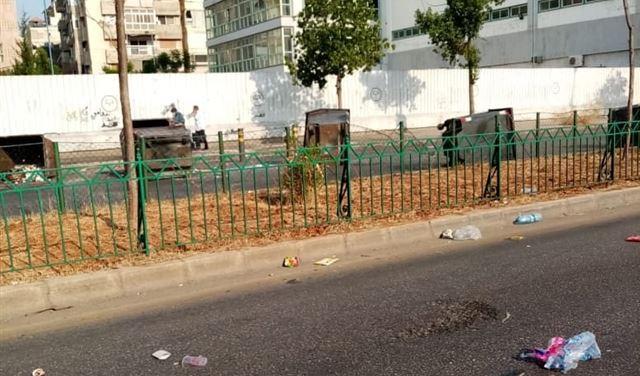 """بالفيديو والصور: إنتفاضةٌ """"باكرة"""" على طريق قصقص - بيروت"""
