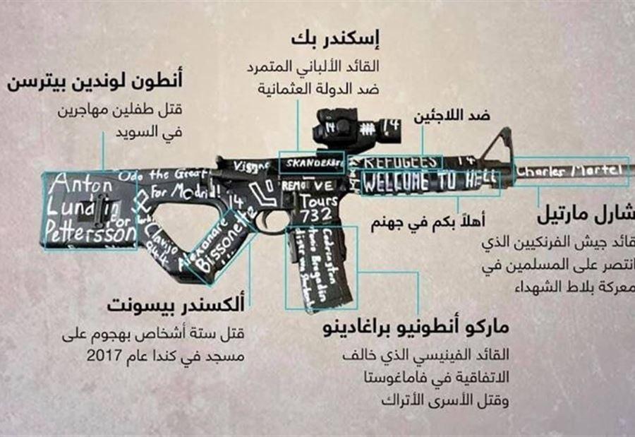 ارهابي مذبحة المسجدين كتب بفوهة الرشاش قائد المسيحيين في معركة بلاط الشهداء