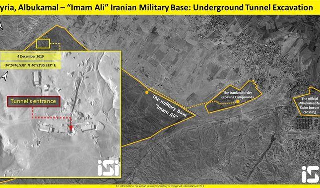 بالصور: إيران تبني أنفاقًا ضخمةً في سوريا