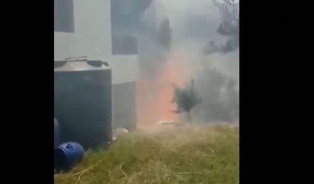 النيران تجتاح المنازل العكارية (فيديو)