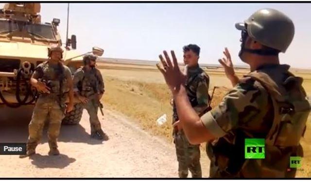 بالفيديو: تلاسن بين جندي سوري وجنود أميركيين