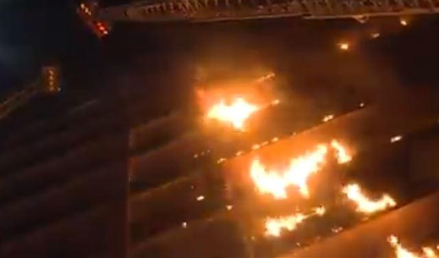 بالفيديو: حريق كبير التهم مستشفى في باريس