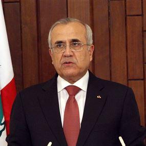 سليمان: لتحييد لبنان عن الانواء المجاورة