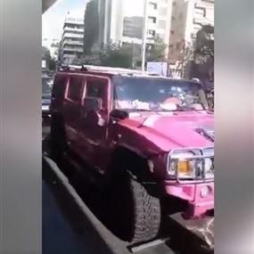 بالفيديو: لحظة حجز سيارة ميريام كلينك وانهيارها