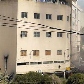 بالصور: حريق كاراج لطلاء السيارات في سد البوشرية