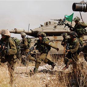 مناورة للجيش الإسرائيلي  في الطرف الغربي لمزارع شبعا