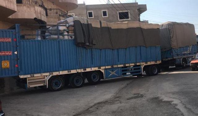بالصور: ضبط شحنة بضائع زنة 16 طنًا وتوقيف شخصين