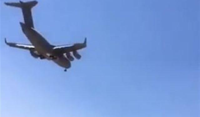 بالفيديو: طائرة شحن أميركية تهبط في مطار رياق!
