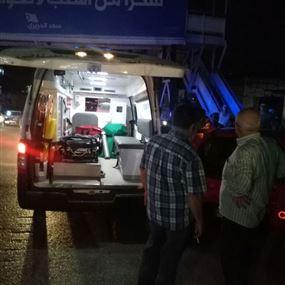 جريح في حادث سير في حلبا