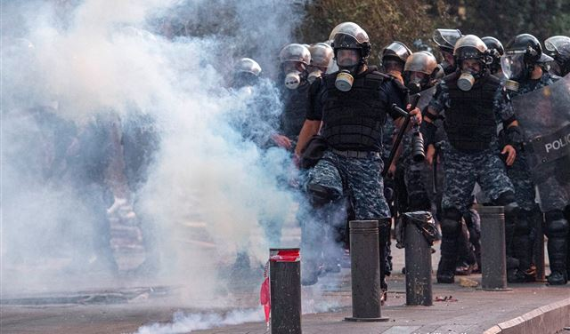قوى الأمن لم تُطلق الرصاص المطّاطي على المتظاهرين