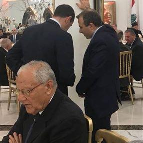 """بالصورة: """"خلوة على الواقف"""" بين نادر وباسيل"""
