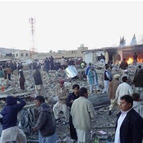 ارتفاع محصلة التفجير الانتحاري في باكستان