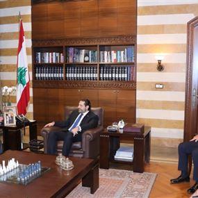 الحريري يعرض التطورات مع دبلوماسيين اوروبيين