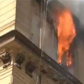 النيران تقضي على منزل آل منير بأكمله