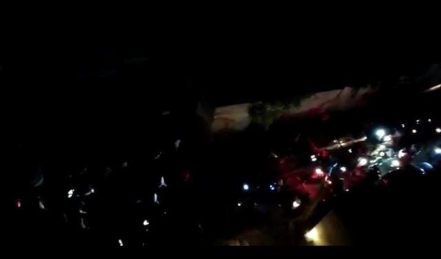 بالفيديو- اطلاق نار على محطة مدكو في زقاق البلاط  بسبب تعبئة الوقود وخسائر مالية هائلة!