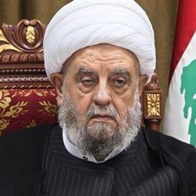 قبلان: لحكومة تحمي لبنان من أي عدوان