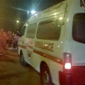 بالصورة: جريحان بحادث تصادم على طريق المنار في ابي سمراء - طرابلس