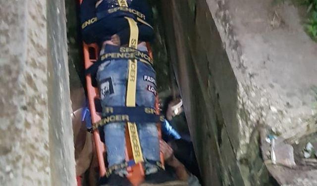 سقوط شاب  بين مسلكي جسر  البالما أثناء تظاهرة