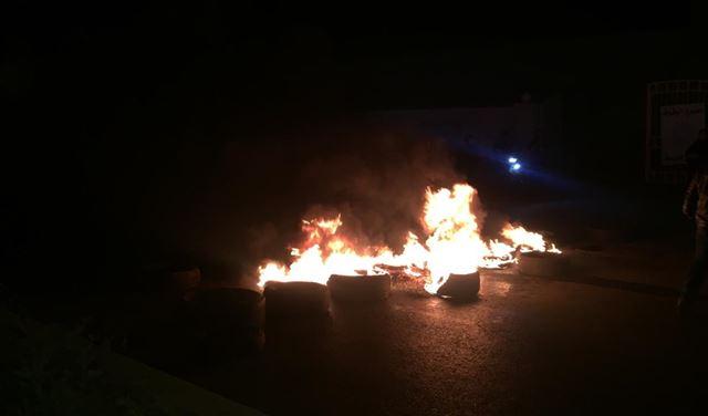 قطع طريق بريتال - بعلبك احتجاجًا
