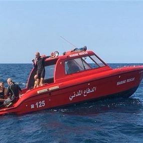 إنقاذ 4 أشخاص من الغرق وانتشال جثة في صور
