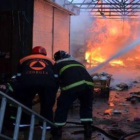 بالفيديو.. حريق في فندق 5 نجوم في جورجيا ومصرع 12 شخصاً