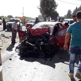 بالصورة: 3 جرحى بحادث سير في تعنايل