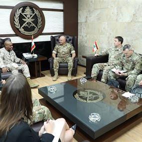 عون بحث مع وفد عسكري أميركي في علاقات التعاون