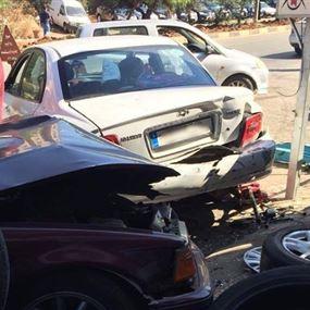 بالصورة: اصابة طفلين ورجل اثر حادث مروّع في طرابلس