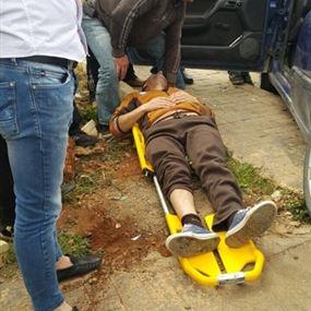 بالصورة: جريحين في حادث سير بمجدلون