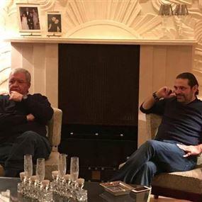 بالصور.. نادر الحريري والمشنوق في منزل الحريري في فرنسا