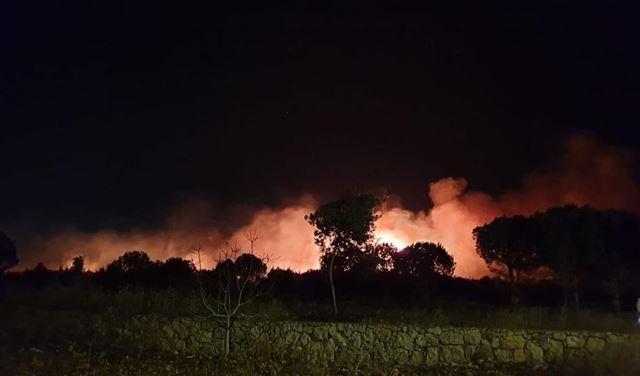 بالصور: حريق كبير في حرج الظهيره - صور