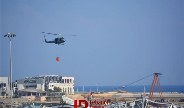 """فيديو يكشف حقيقة """"الصاروخ"""" الذي ضرب مرفأ بيروت قُبيل الإنفجار"""