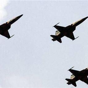 تحليق لطيران حربي فوق منطقة جبيل