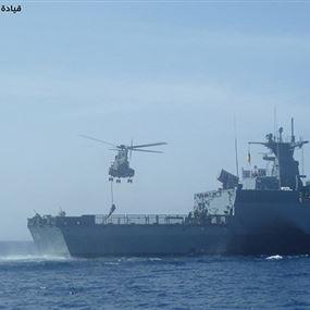 تمرين للجيش بالاشتراك مع سفينة حربية ألمانية