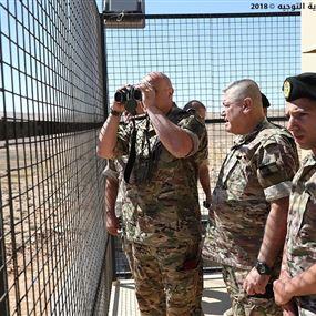 قائد الجيش يتفقد مراكز فوج الحدود البرية الرابع في بعلبك