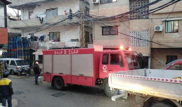بالصور: مصاب بحريق داخل شقة في برج البراجنة