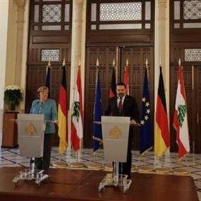 الحريري في مؤتمر مشترك مع ميركل: هدفنا تعزيز العلاقات بين البلدين