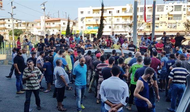 """إشكال بين متظاهرين وفريق """" الجديد"""" في عكار"""