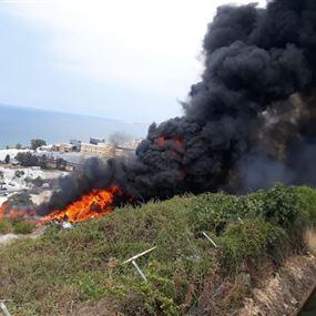 بالصور: حريق كبير  في حالات